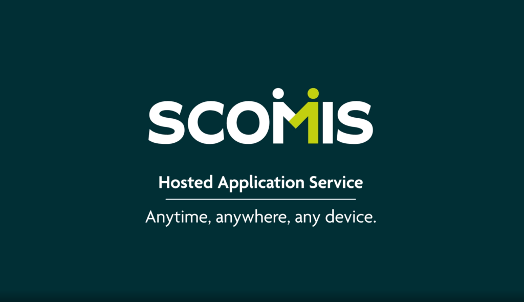 Scomis Hosted Application Service Animation title slide